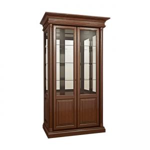 Вітрина 2-х дверна з фільонкою (зі склом + 2 боки зі склом)