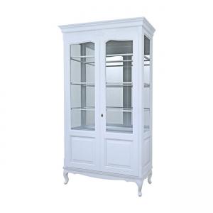 Вітрина на ніжках 2-х дверна з філенкой зі склом (+ 2 боки зі склом)